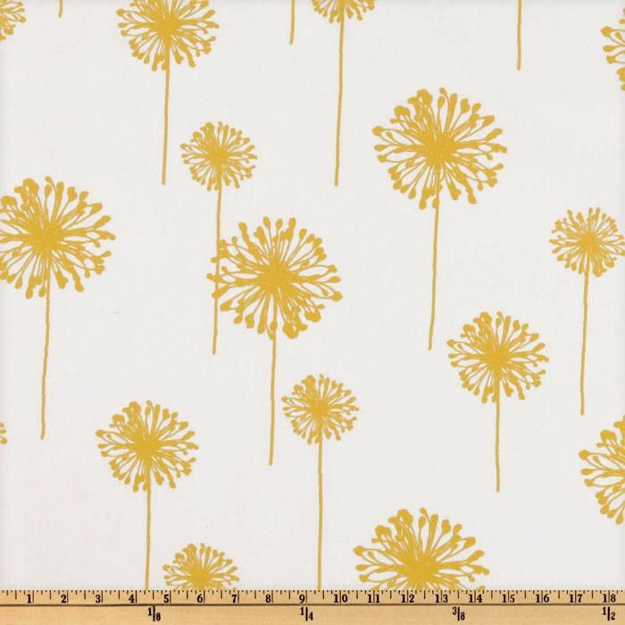 OMG- So happy I just found this fabric for my bedroom :)!!!     Premier Prints Dandelion Slub Yellow/White