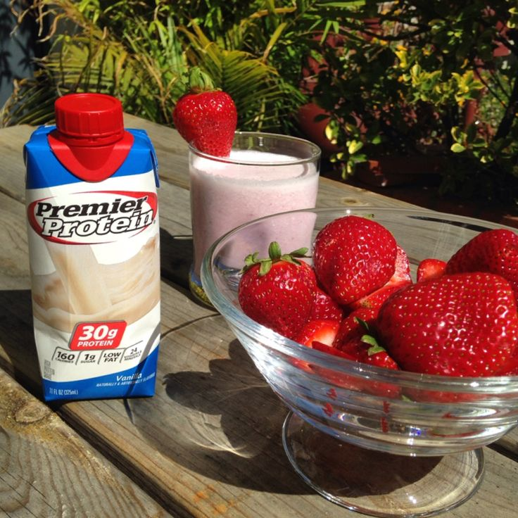 Blend a handful with a Premier Protein vanilla shake and a couple ice cubes for a delightful warm weather treat.