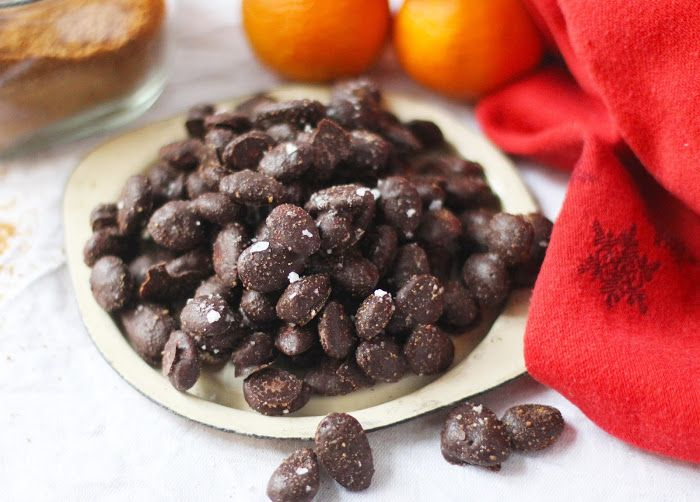 lilla matdériven: Rostade chokladmandlar