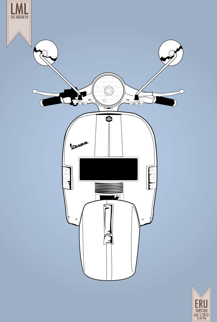 LML scooter. Illustration by ewaaw via deviant-art