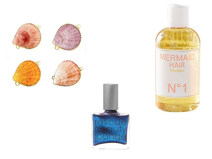 Earth tu Face Botanical Perfume in Jasmine Balm, $78; earthtuface.com; Rescue Beauty Lounge Nail Polish in Pardonne Moi (Je t'aime! Je t'aime!), $20; rescuebeauty.com; Mermaid Hair Shampoo, $35; urbanoutfitters.com