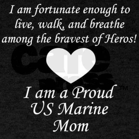 Marine Mom Fortunate T-Shirt on CafePress.com