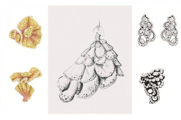 Gli abiti si trasformano in gioielli Archi Dior