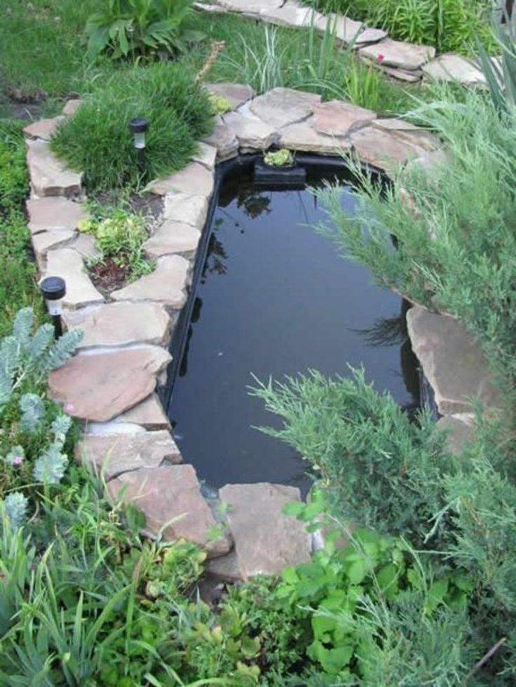 273 best Teich images on Pinterest Landscaping, Backyard ponds - gartenteich mit brucke und bachlauf