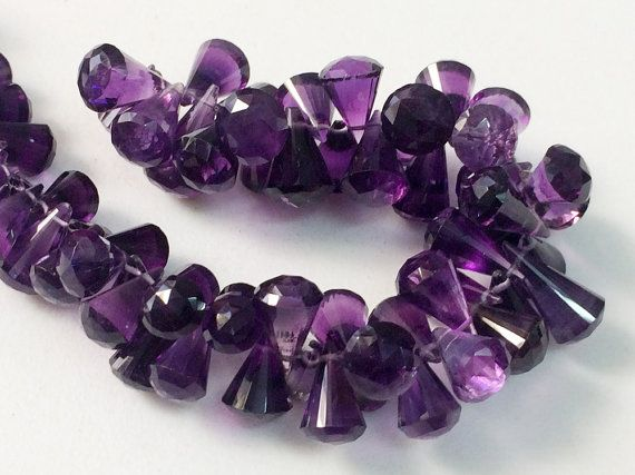 Amethyst Fancy Beads Rare Amethyst Faceted by gemsforjewels