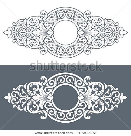 vintage border frame engraving with retro ornament filigree pattern in antique baroque style decorative design isolated on white background