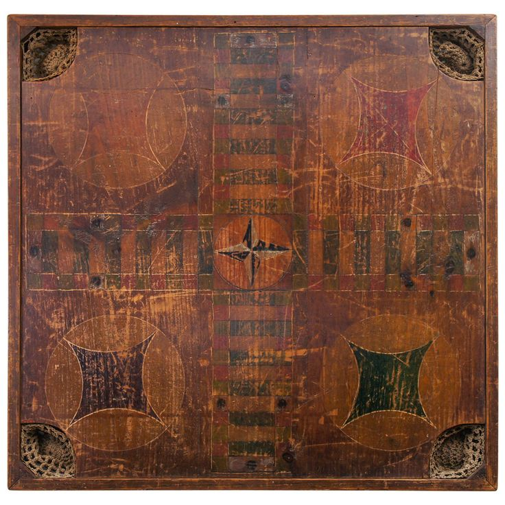 Wooden Carrom Board Game | From a unique collection of antique and modern game boards at https://www.1stdibs.com/furniture/folk-art/game-boards/