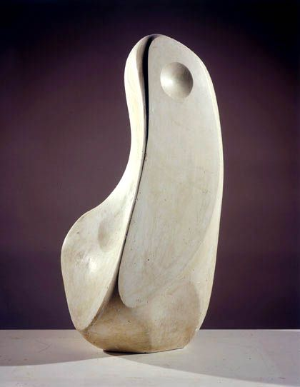 Coré, Bronze, 1960 (BH 208 B, edition of 7), casts at Tate (Barbara Hepworth Museum, St Ives); Whitworth Art Gallery, Manchester