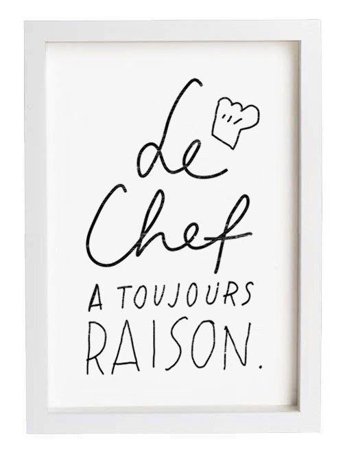 "French Kitchen Art - Le Chef - 11""x15"" - archival fine art giclée print on Etsy, $45.00"