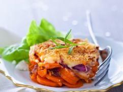 Gratinado de zanahorias confitadas y parmesano