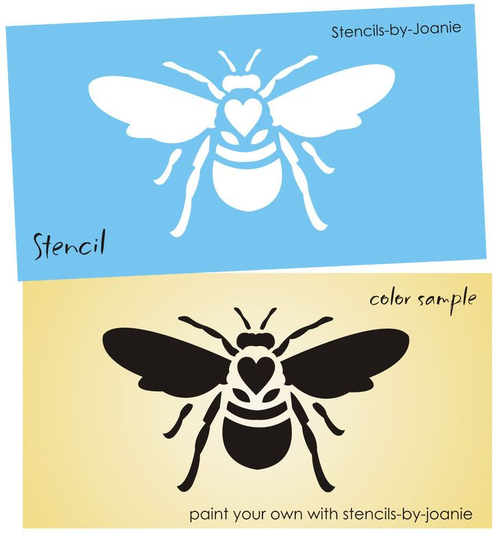 Great Honey Bee STENCIL Royal Queen Cottage Chic Garden Yard Insect Bug Pillow Crafts
