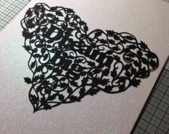 Papercut template for Christmas by bigfurrycat on Etsy