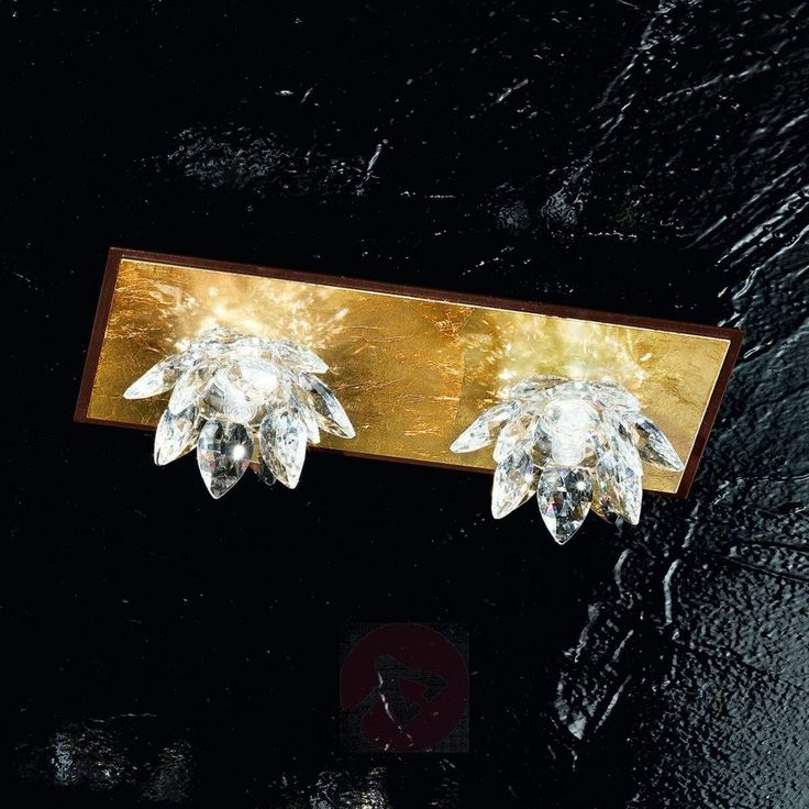 Fiore taklampe med bladgull og krystaller-5505543X-30