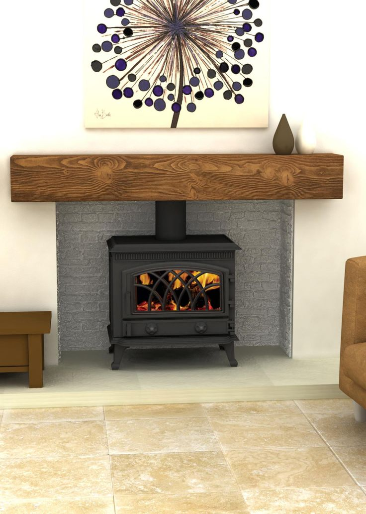 Wooden mantle