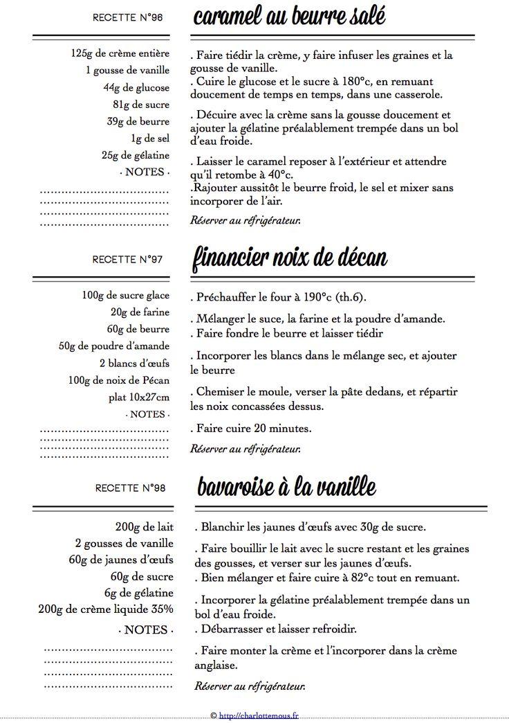 Carton Recette n°96/97/98
