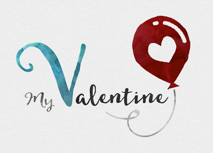 My Valentine   Postkarte in DIN A6 (14,8 x 10,5 cm). Gedruckt auf hochwertigem Recyclingpapier. 10 % Gutschein: ke4pinterest