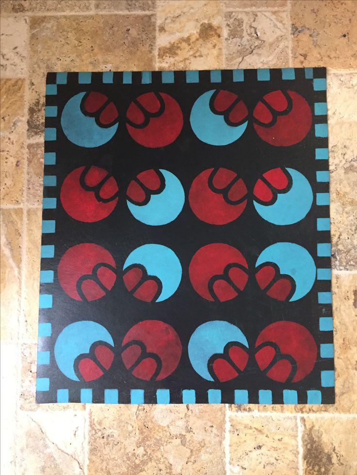 """Linoleum floor carpet inspired by designer ElKayam ( 1950's design)"
