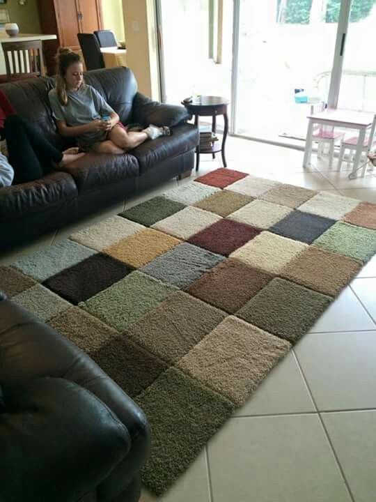 Pinterest project complete! Why spend hundreds on a new rug when you can make…