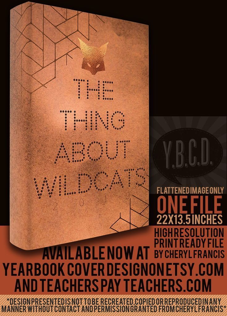 Yearbook Cover Design The Thing About Wildcats 2019 With Images