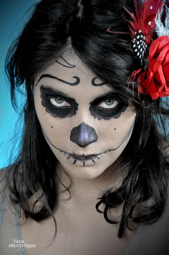 Maquillage// Halloween Calavera - www.bleuelectrique.fr