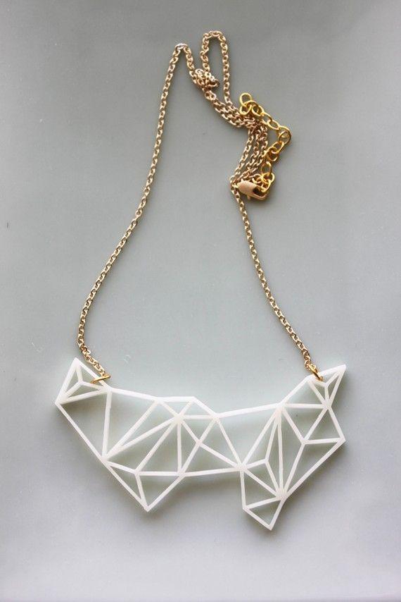 prism necklaceAccessories Jewelry, Jewelry Necklaces, Statement Necklaces, Beads Necklaces, Geometric Fashion, Geometric Prism, Prism Necklaces, Pastel Goth, Geometric Necklaces