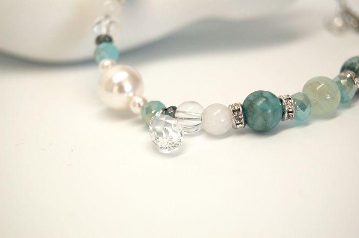 Bracelet cheville pierre précieuse bijou cheville acier inoxydable bijou élégant cristal Création Cristal Ev. #Douceur de la boutique CristalEv sur Etsy