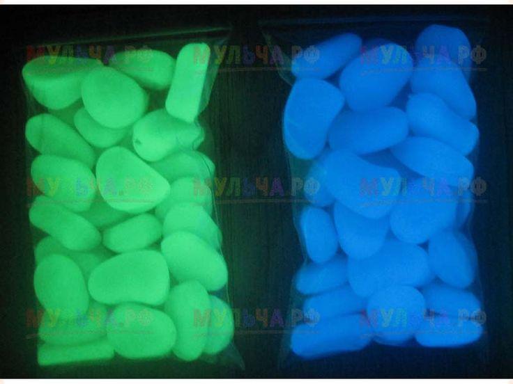 Мраморная (гранитная) крошка. Светящаяся (люминесцентная) - Мраморная крошка - купить у производителя Мульча.рф