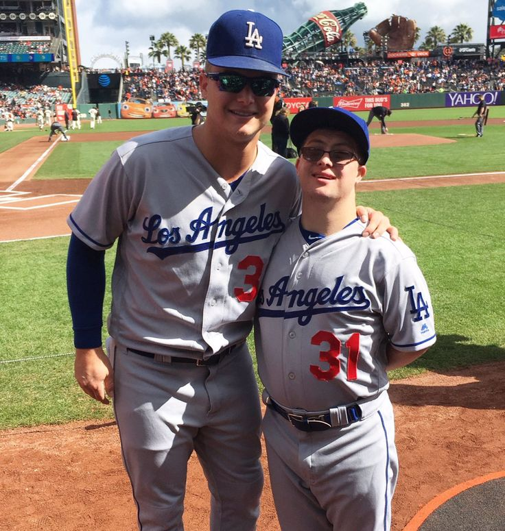 Joc Pederson's older brother Champ, who has Down syndrome, is a Dodger batboy. Champ celebrated his 29th birthday on 10/02/16. He rooms with Joc when traveling with the Dodgers on the road. Champ also works as an Apple Store Specialist in Palo Alto, California. Their father, Stu Pederson played briefly for the Dodgers in 1985.