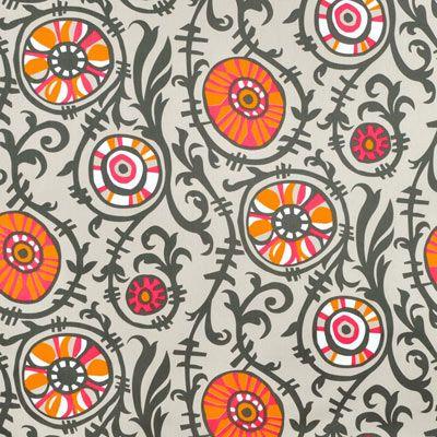 Shop Premier Prints Suzani Vine Sherbet/Gray Twill Fabric at onlinefabricstore.net for $9.98/ Yard. Best Price & Service.