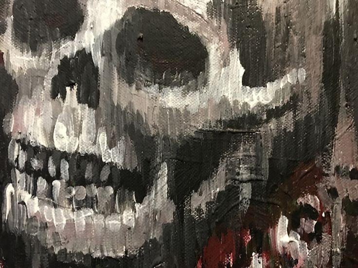 Painting, detail #skulls