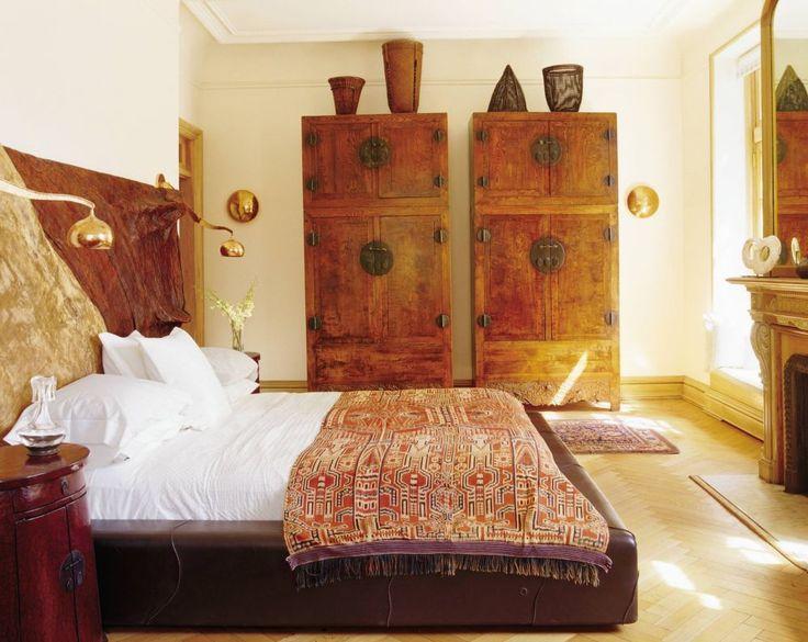 Exotic Bedroom By Anne Leslie Warren / In The Master Bedroom Of Jewelry  Designer John Hardyu0027s