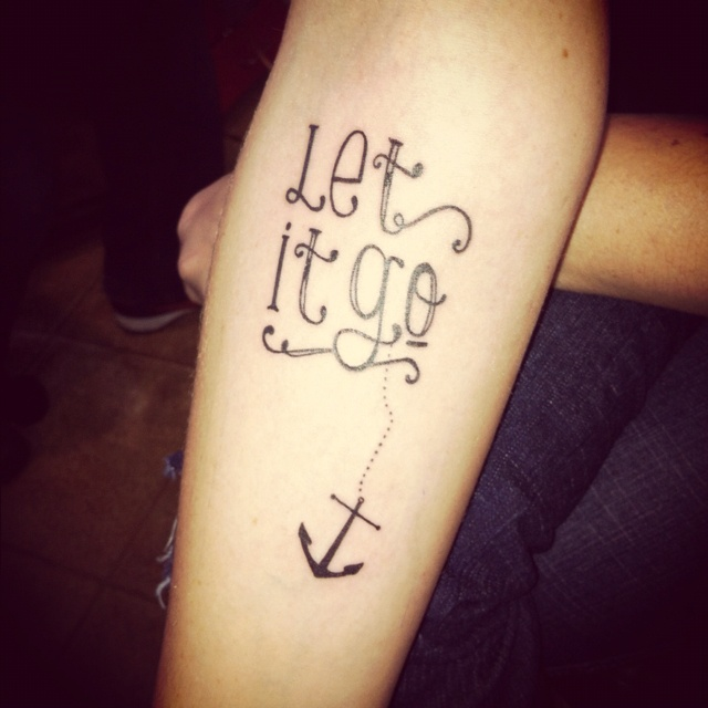 Let it go #anchor #tattoo #ink