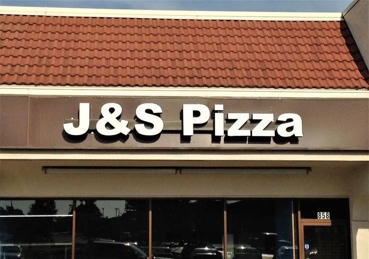 #BusinessSign for J&S Pizza. Great pizza, give them a try!