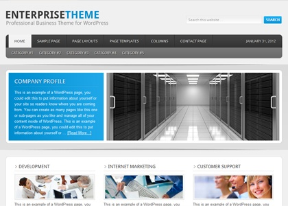 Web Development Australia - great web development template for professional businesses or B2B
