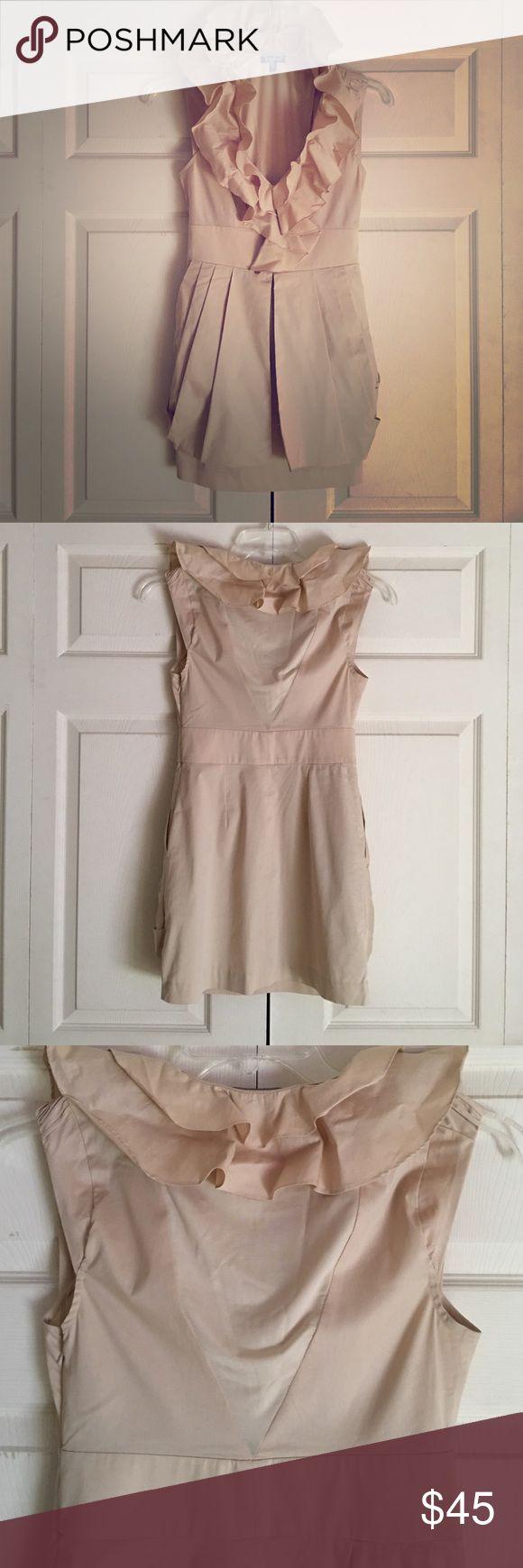 "🔥💥BIG SALE🔥🔥""BEBE"" Beige Mini Dress Sz S💥🔥🎊 🔥🔥💥""BEBE"" Beige Very Cute  Mini Dress with Sheer back. Never been worn!!! New Without Tag Sz S 💥🔥🔥 bebe Dresses Mini"