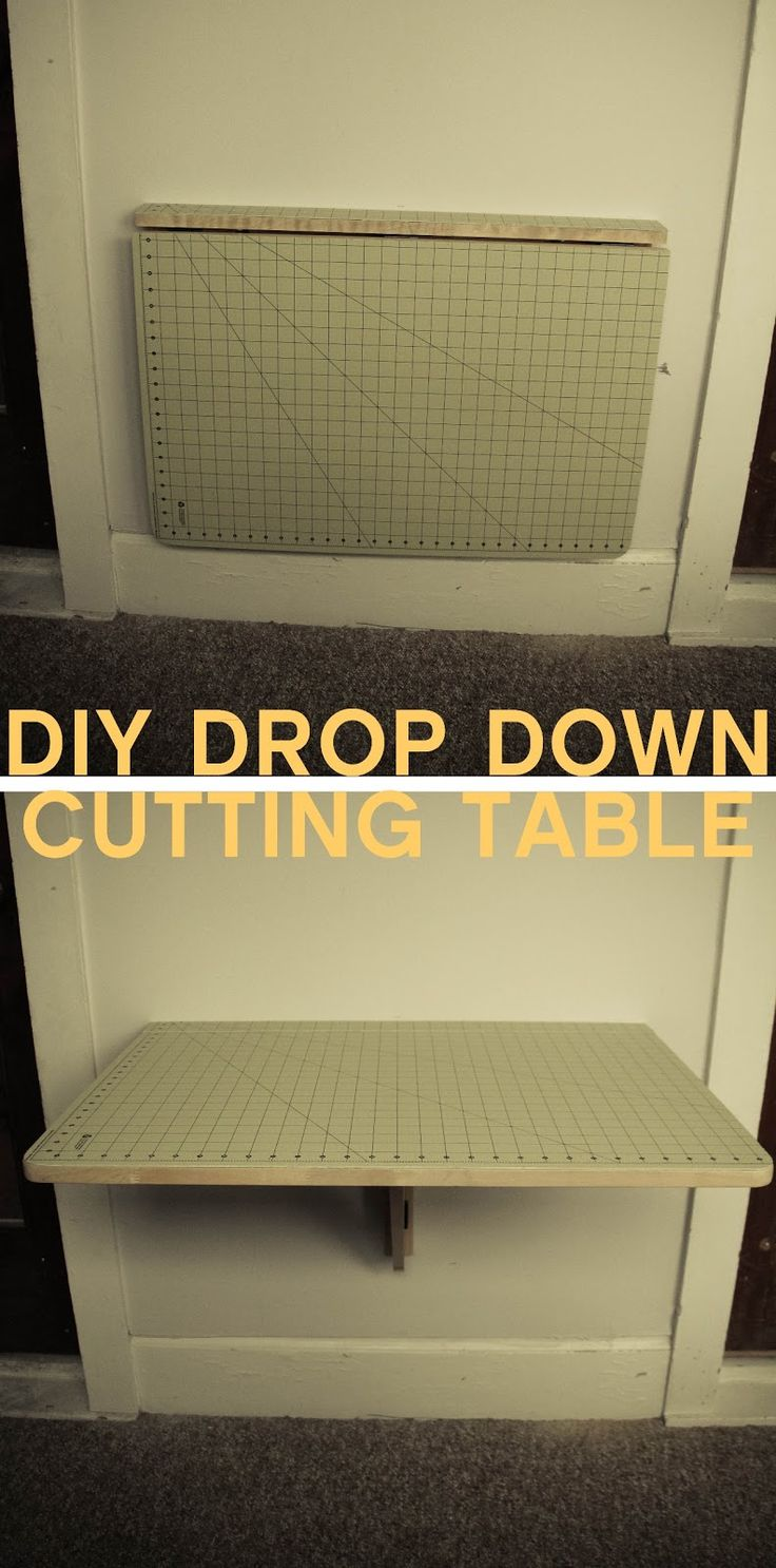 Diy cutting table - Grosgrain Diy Drop Down Cutting Table