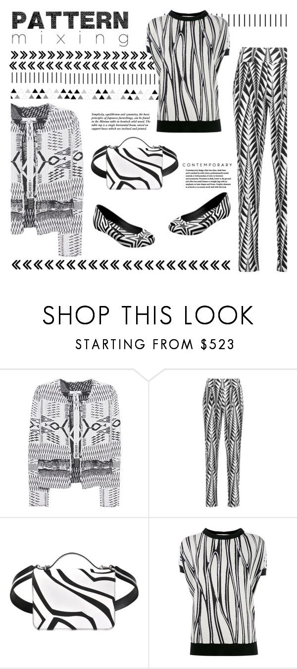 """""""Line Mix"""" by snowbell ❤ liked on Polyvore featuring Forum, IRO, Balmain, Gareth Pugh, Emilio Pucci and Marni"""