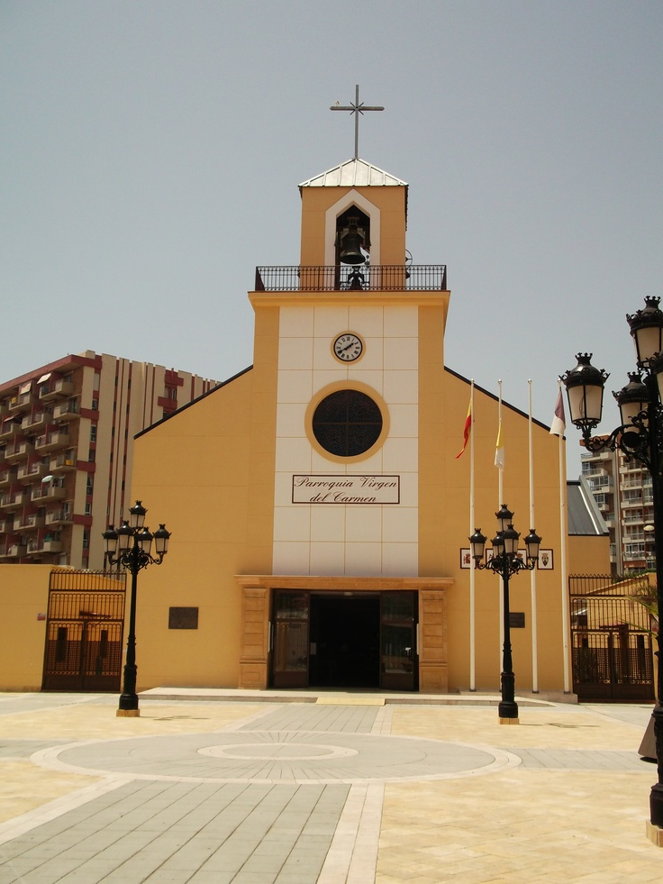 The Virgen del Carmen church in Benalmadena is located centrally in Bonanza Square.