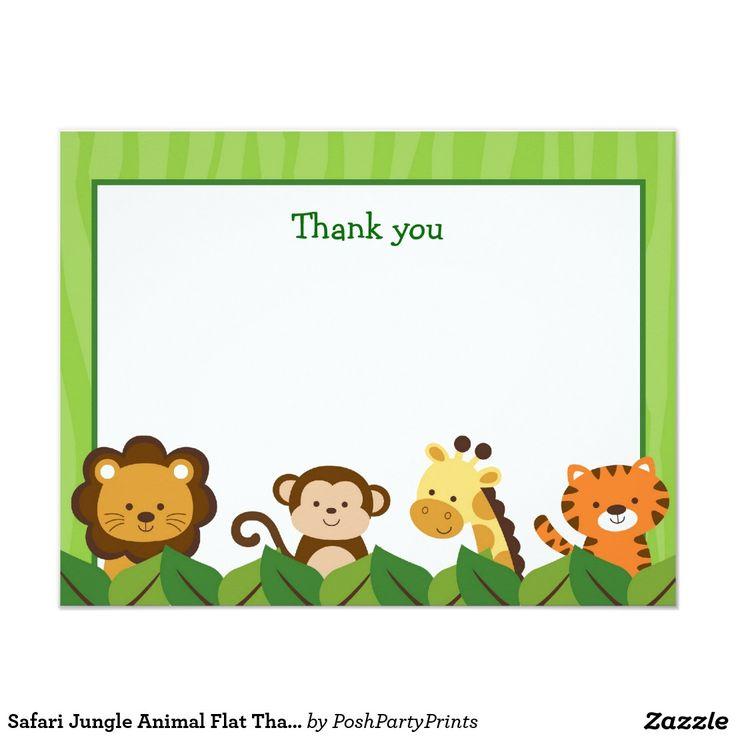 Cart 227 O De Notas Obrigado Liso Animal Da Selva Do Safari