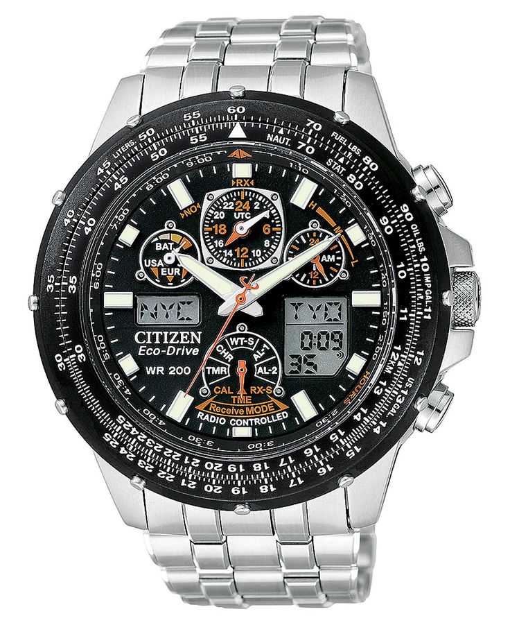 Citizen Watch, Men's Eco-Drive Skyhawk Atomic http://www.thesterlingsilver.com/product/bulova-accutron-ii-mens-uhf-watch-with-blue-dial-analogue-display-and-blue-leather-strap-96b212/