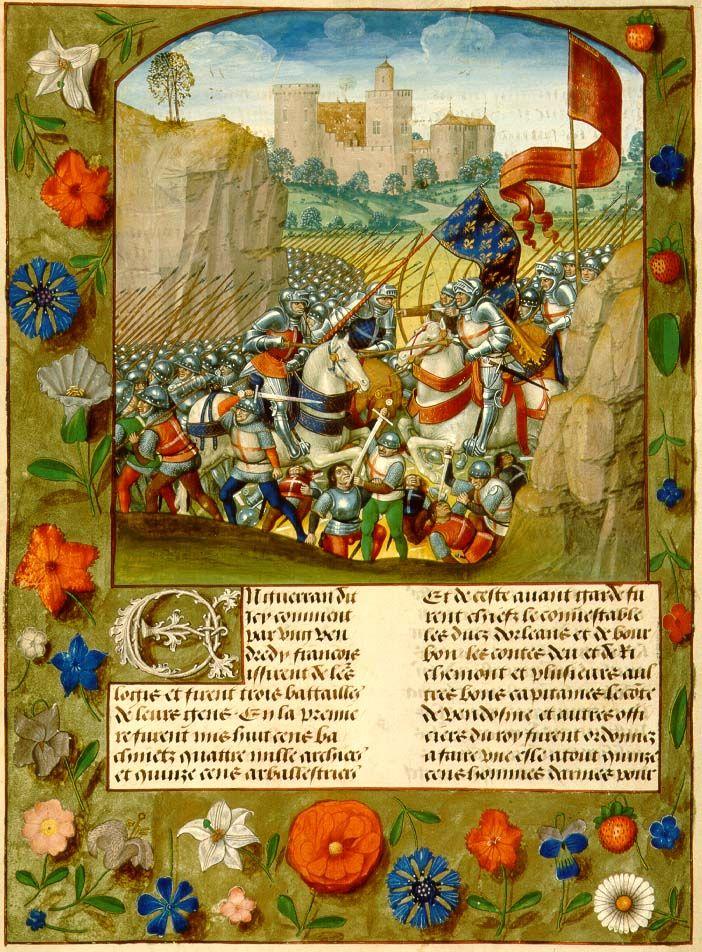 Agincourt, Monstrelet Chronicle, VGGF 2 74r