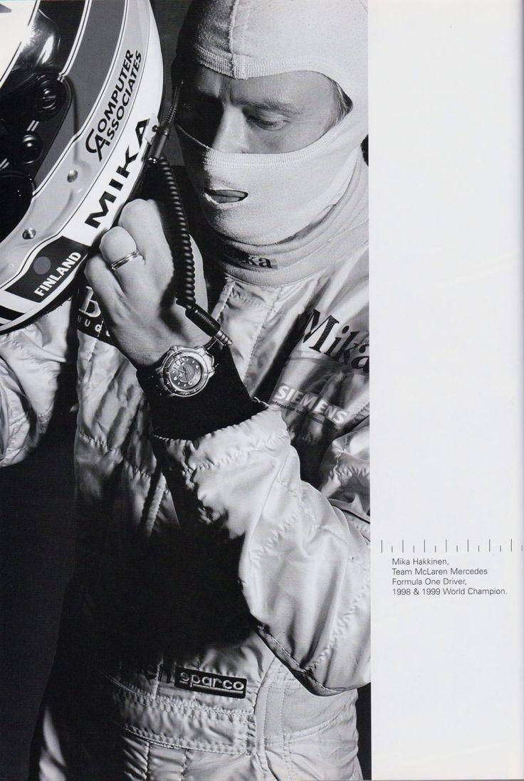 #Mika Hakkinen and his #TAG #Heuer- great photo
