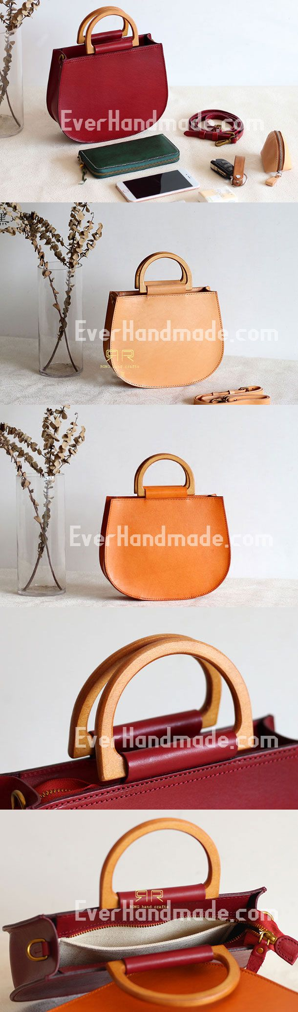 Handmade Leather handbag bag shopper bag for women leather