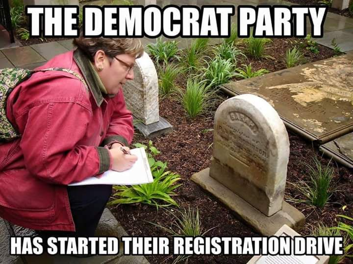 The #DNC may be in a #cemetery near you. Check to see if any of your long lost loved ones plan to #vote #Democrat in 2016.  * #Health & #Fitness stores: #yoga #diet #medical