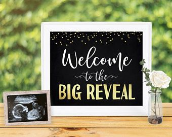 Welcome to the Big Reveal Sign, Gender Reveal Party Ideas, gender reveal decoration, gender reveal sign, Baby Shower, Instant Download