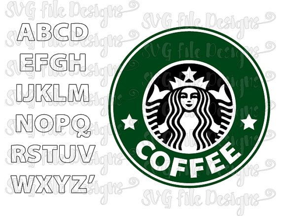 Make Your Own Personalized Custom Starbucks Logo Cut File Set in Svg, Eps, and Dxf for Cricut & Silhouette Cutting Machines