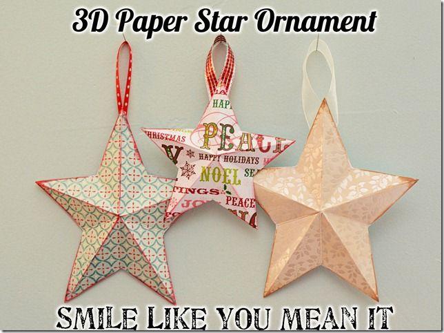 3D paper star ornaments
