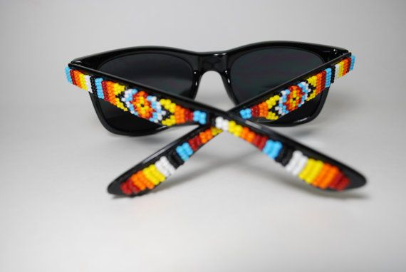 Native Sun beaded sunglasses by brownbeadednet on Etsy, $79.00