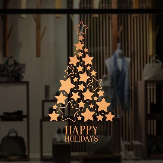 Christmas Window Decals.Pin On Visual Merchandising