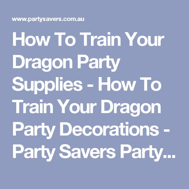 How To Train Your Dragon Party Supplies - How To Train Your Dragon Party Decorations - Party Savers Party Shop